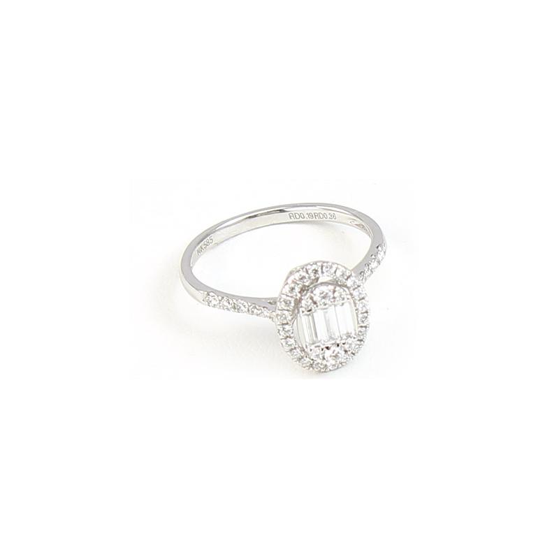 Paramount Gems 14 Karat White Gold Diamond Fashion Band