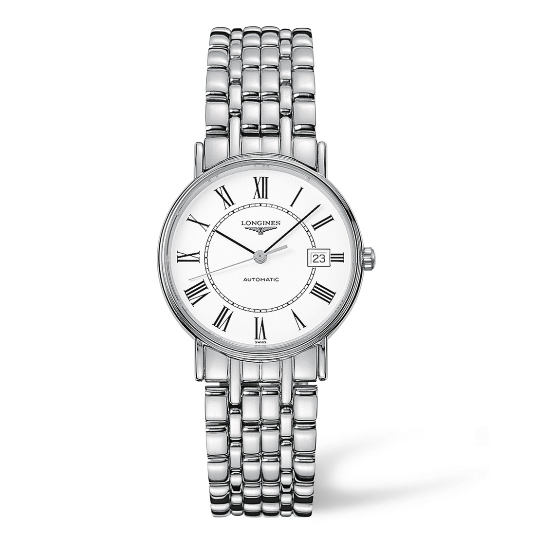 15846204527 Longines Presence Automatic White Dial Stainless Steel Mens Watch ...