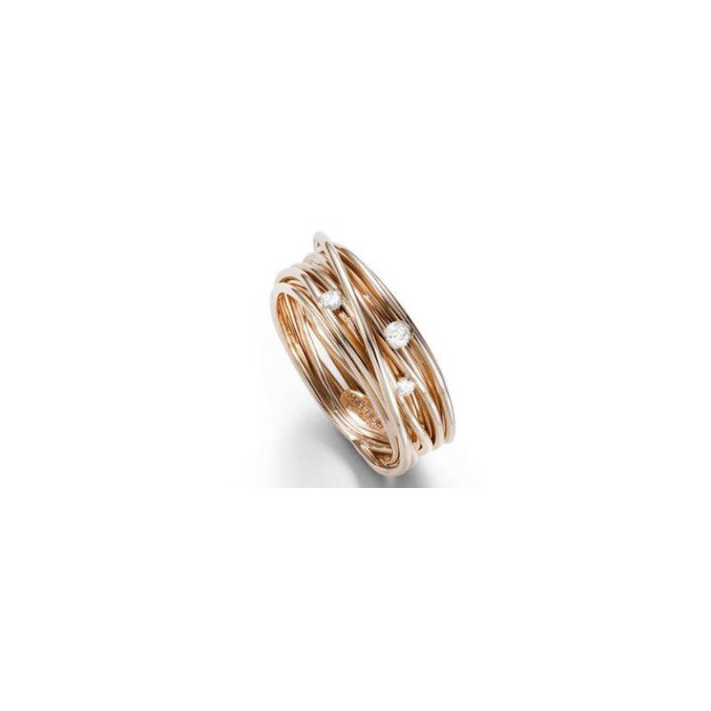 Mattioli 18 Karat rose gold Tibet Tension Ring.