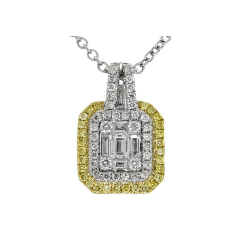 Gregg Ruth 18 Karat white gold and diamond pendant.
