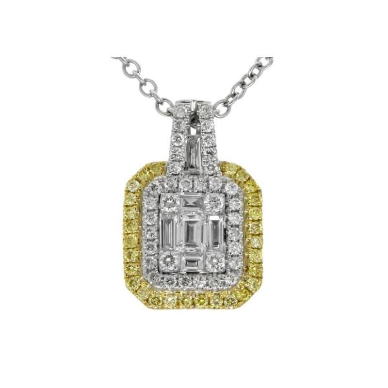 Gregg Ruth 18 Karat white gold and diamond pendant.