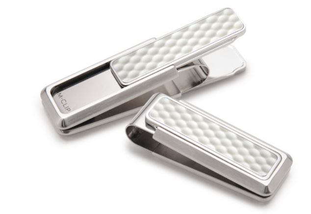 M-Clip Brushed Stainless Steel Golf Ball Money Clip