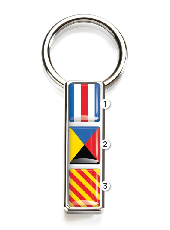 M-Clip Mariner Nautical Flag Key Ring