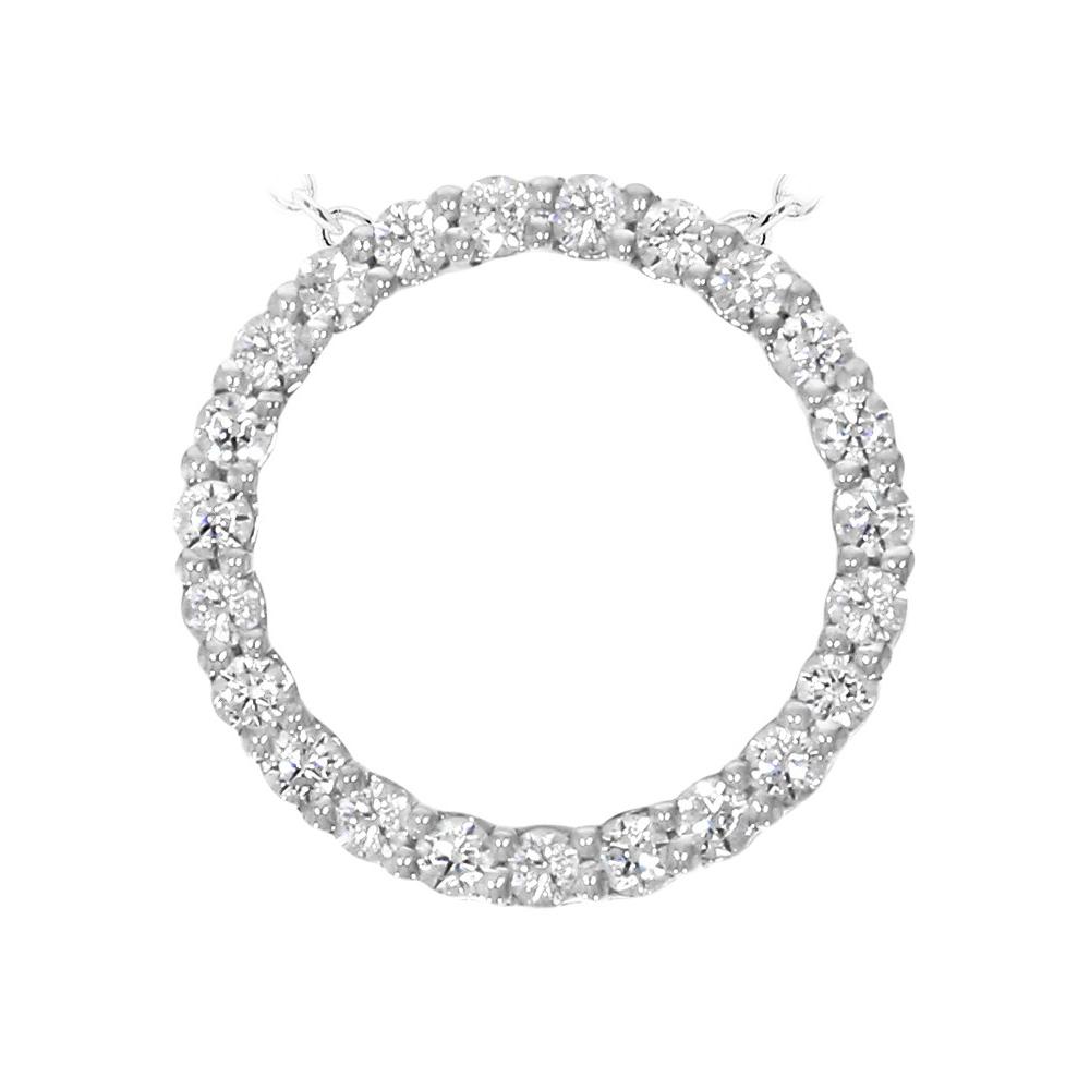 """Paramount Gems 14 Karat White Gold .25 Carat Diamond """"Circle of Life"""" Necklace"""