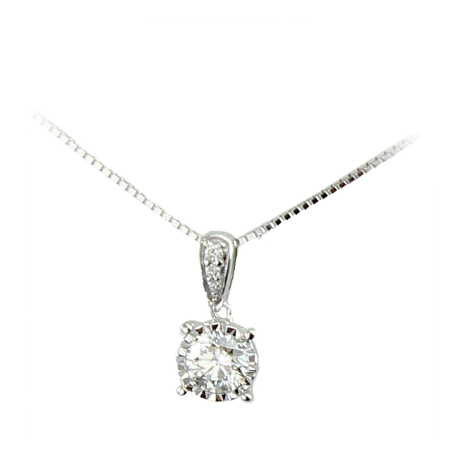 Paramount Gems 14 Karat White Gold Diamond Pendant Necklace