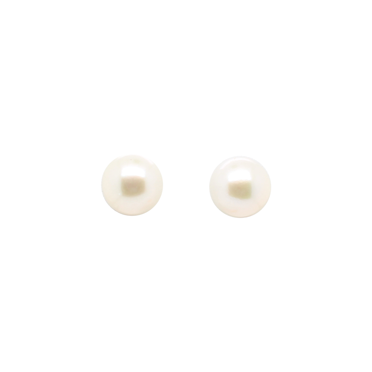 14 Karat White Gold 6-7mm Freshwater Cultured Pearl Earrings