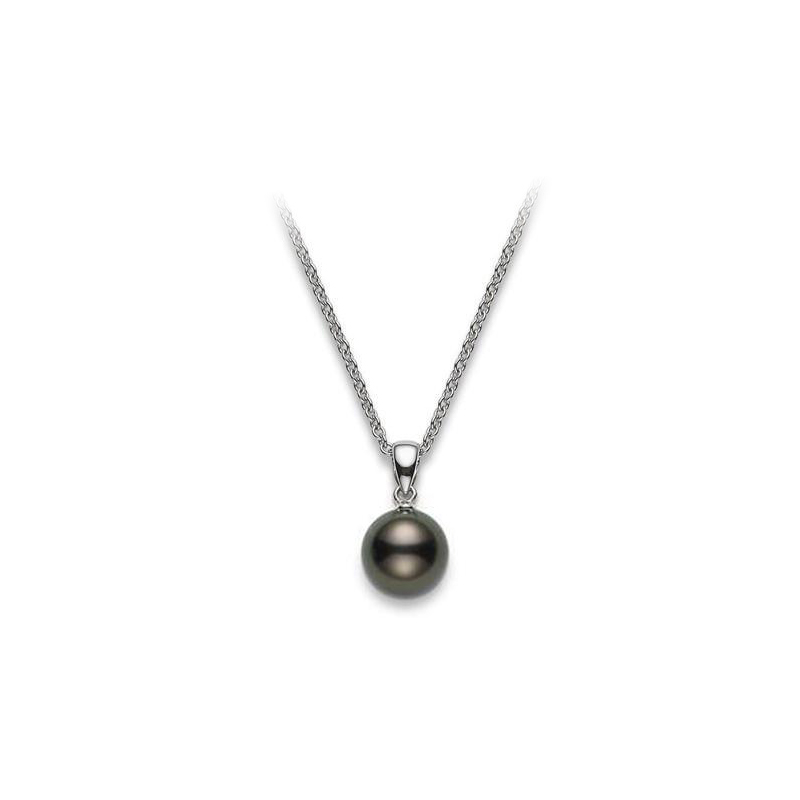 Mikimoto Lady's 18 Karat White Gold Black South Sea Pearl Pendant