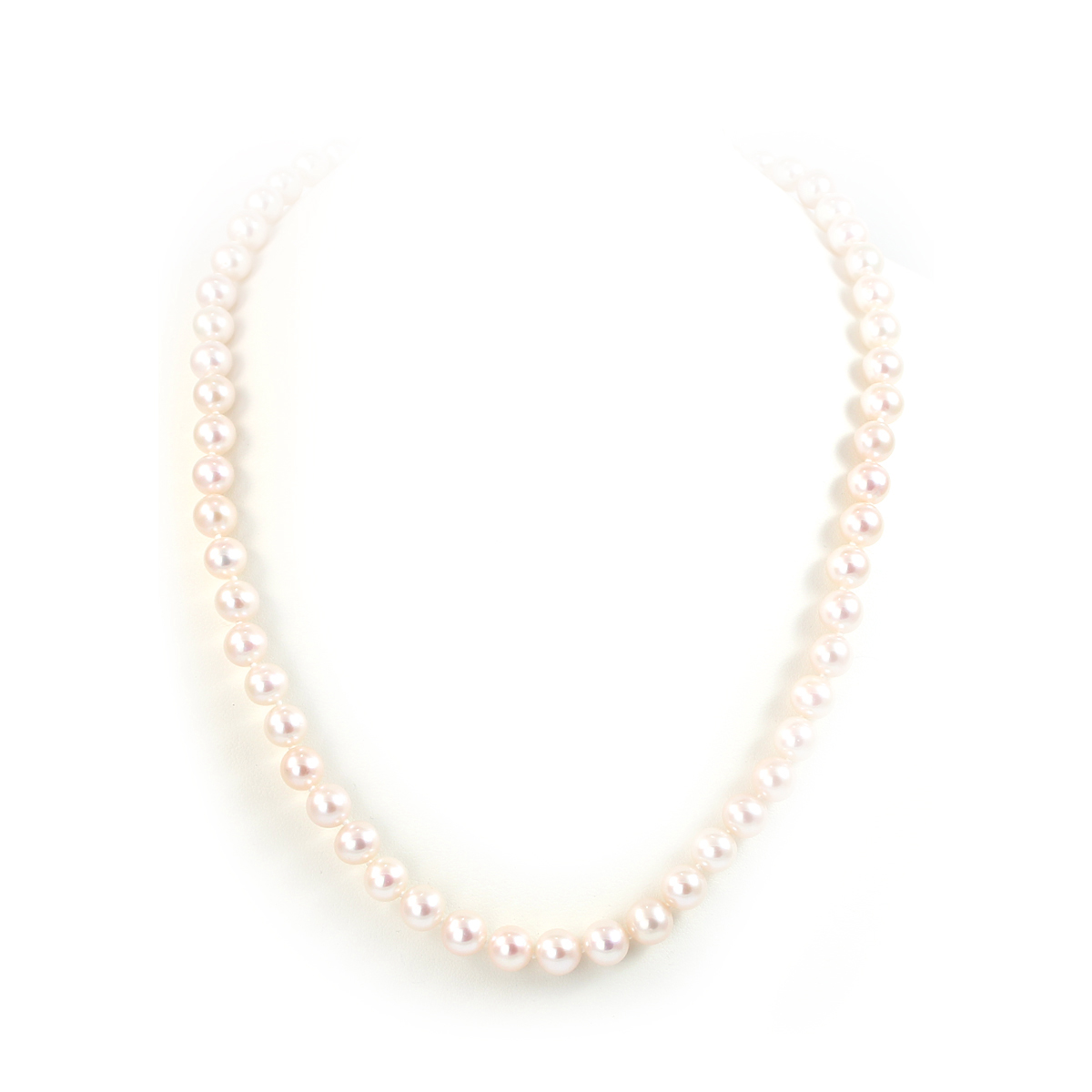 7-8mm White Freshwater Cultured Pearl Necklace