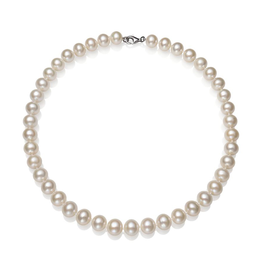 11-12mm White Freshwater Cultured Pearl Necklace