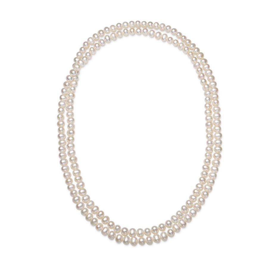 Endless 7-8mm Freshwater Cultured Pearl Necklace