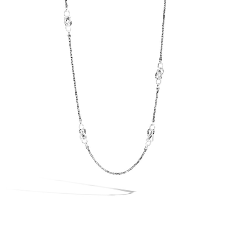 John Hardy Asli Classic Chain Link Silver Mini Chain Sautoir Necklace