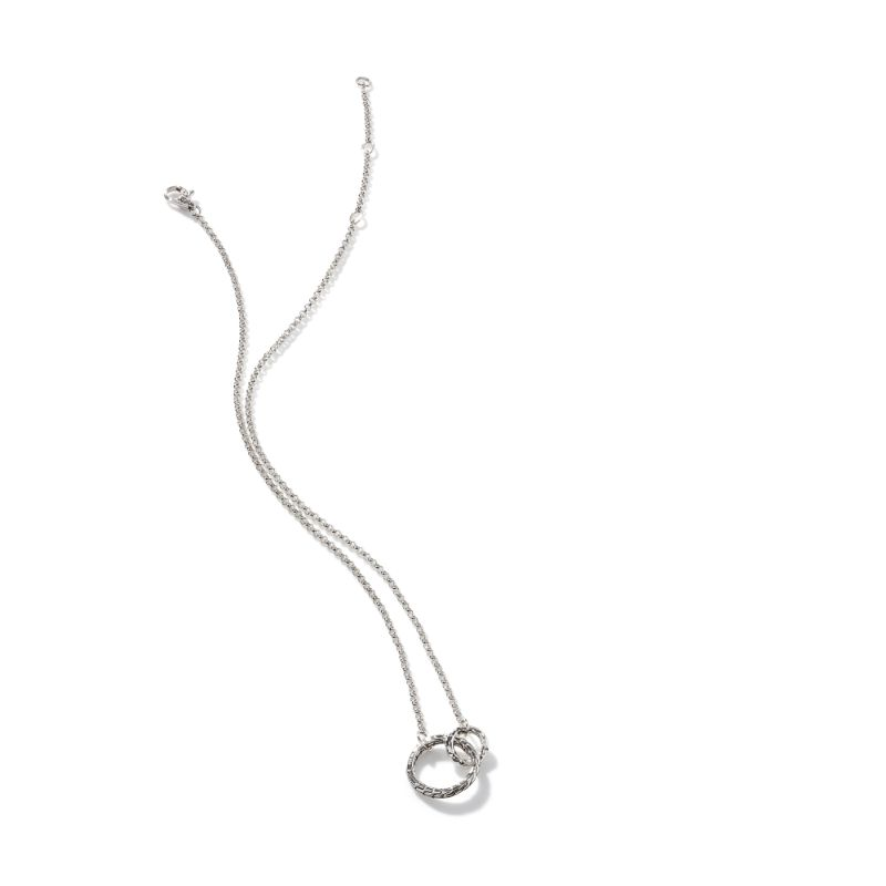John Hardy Classic Chain Hammered Interlinking Necklace