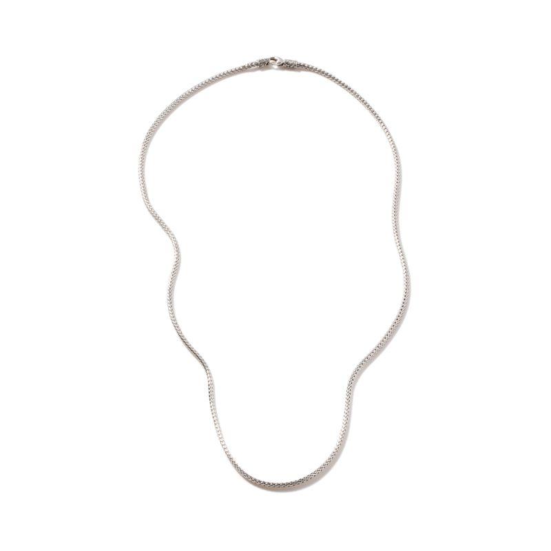 John Hardy Classic Chain Silver Mini Necklace 2.5mm, Size 18