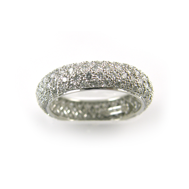 Platinum Pave Set Diamond Eternity Band