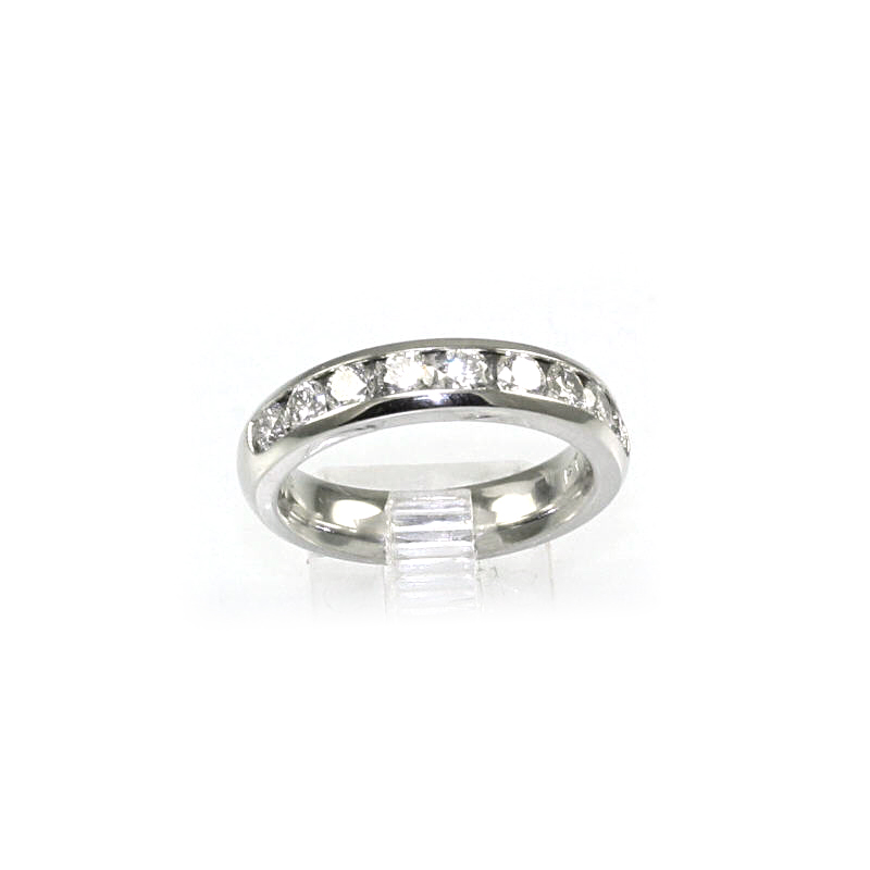 Platinum Nine Diamond Wedding Band