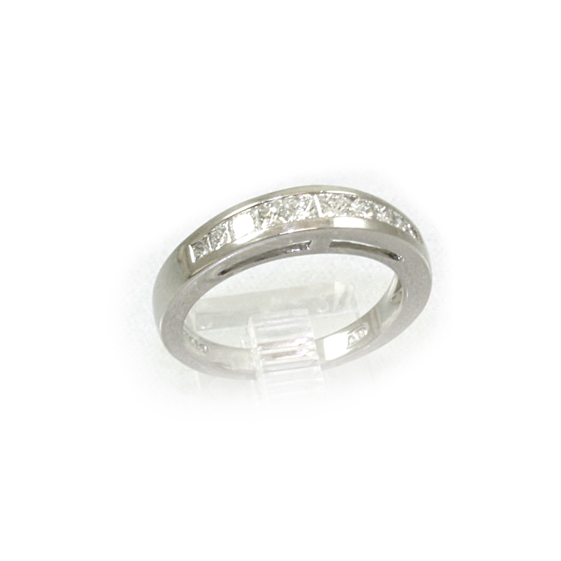 Platinum Ten Diamond Wedding Band