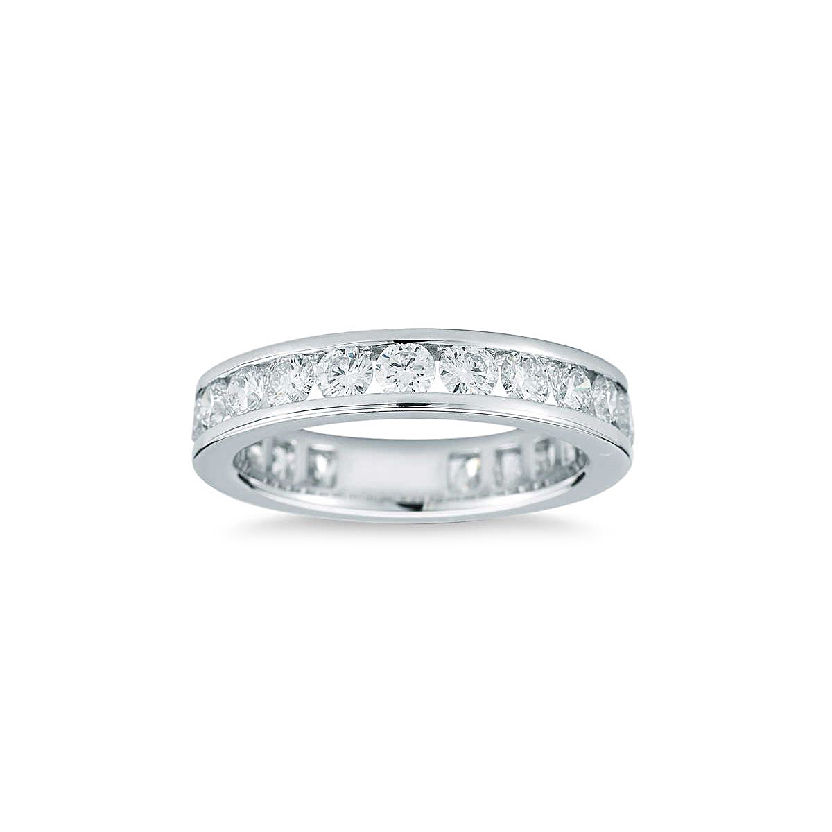 Platinum 21 Diamond Eternity Band