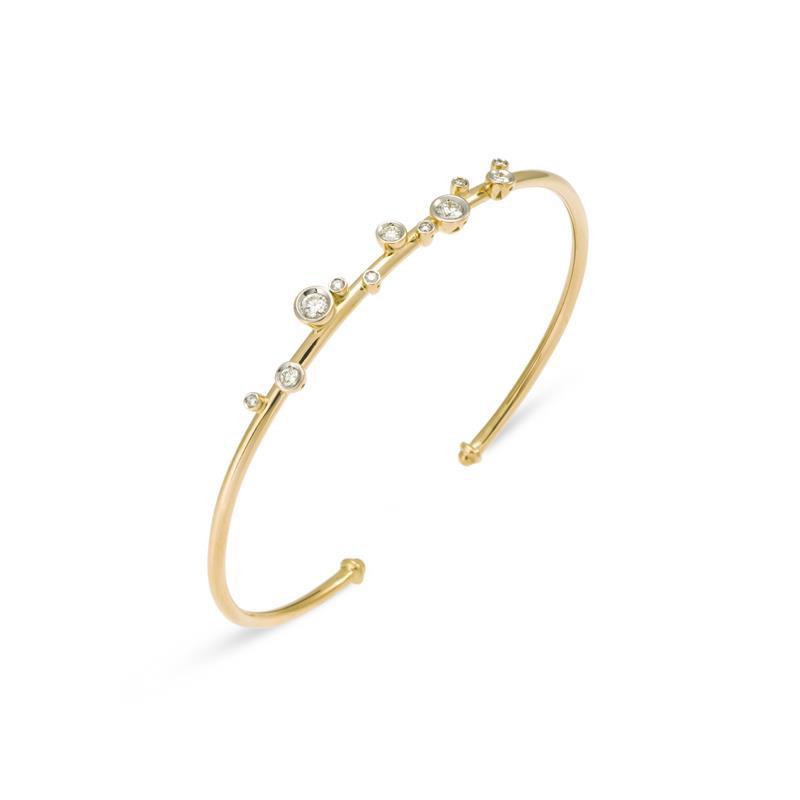 PONTE VECCHIO ISIDE BRACELET - YELLOW GOLD AND DIAMONDS