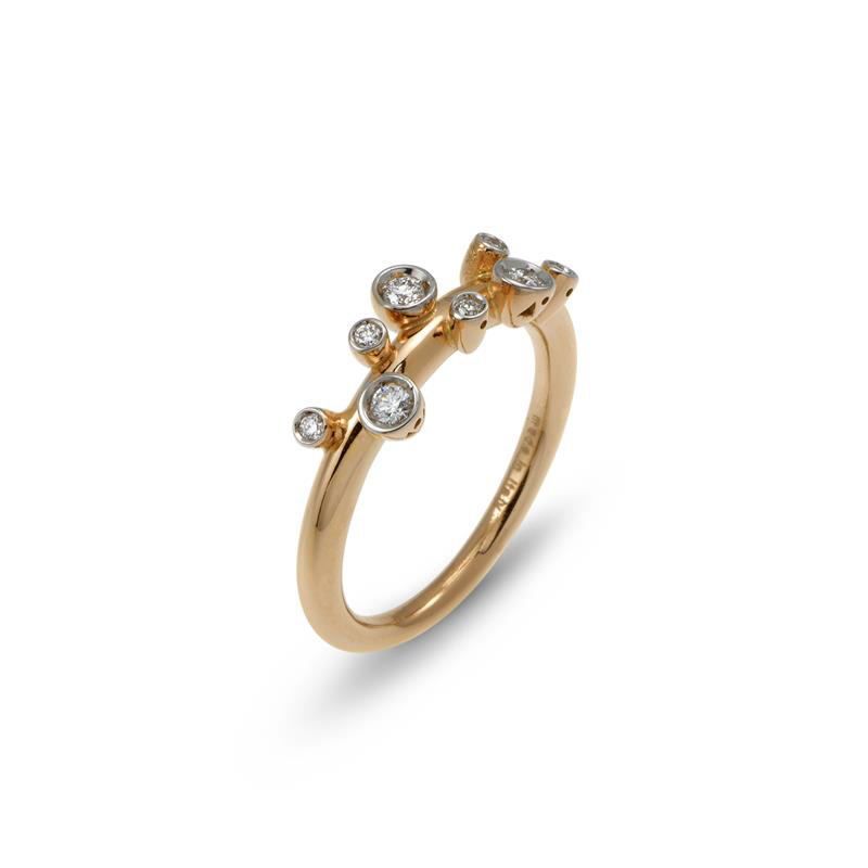 PONTE VECCHIO ISIDE RING - ROSE GOLD AND DIAMONDS