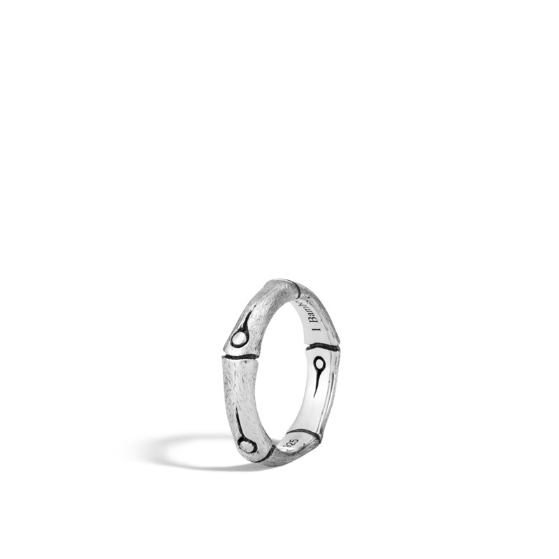 John Hardy Bamboo 4.5mm Band in Brushed Silver (7)