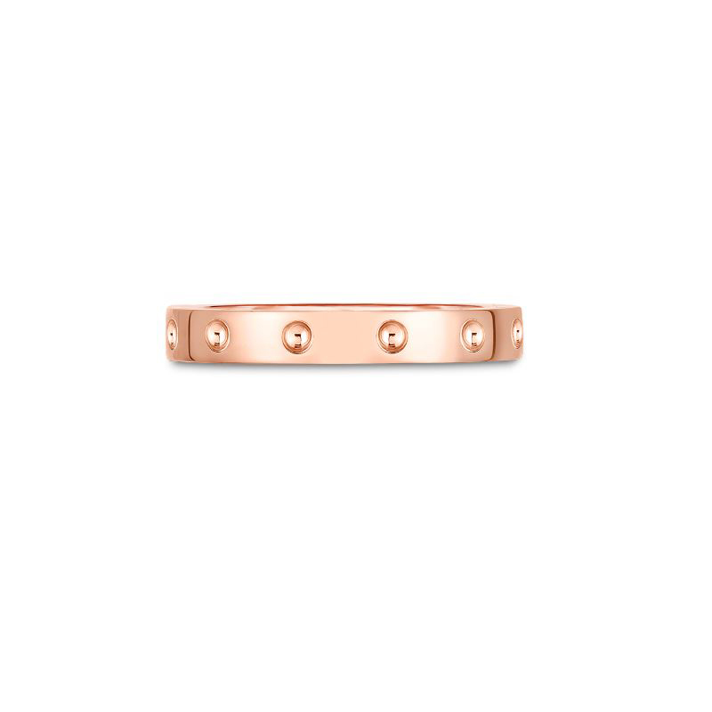 Roberto Coin 18 Karat Rose Gold Symphony Pois Moi Band Ring