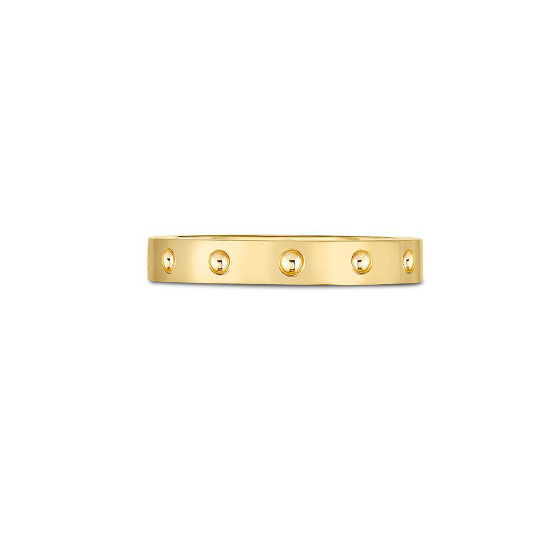 Roberto Coin 18 Karat Yellow Gold Symphony Pois Moi Band Ring