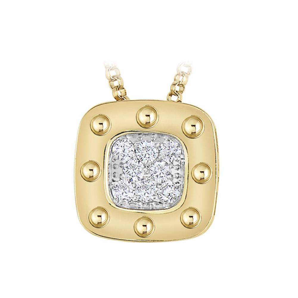 Roberto Coin 18 Karat Yellow Gold Pois Moi Diamond Pendant Necklace