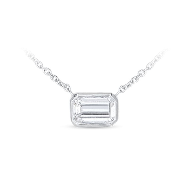 Roberto Coin 18 Karat White Gold Diamond Pendant Necklace