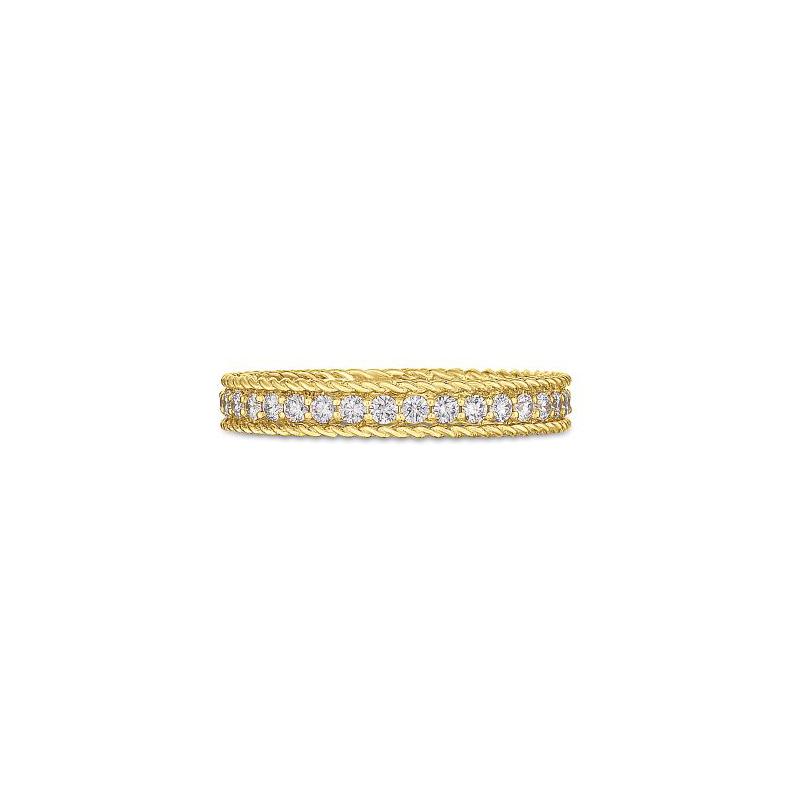 Roberto Coin 18 Karat Yellow Gold Diamond Symphony Princess Ring