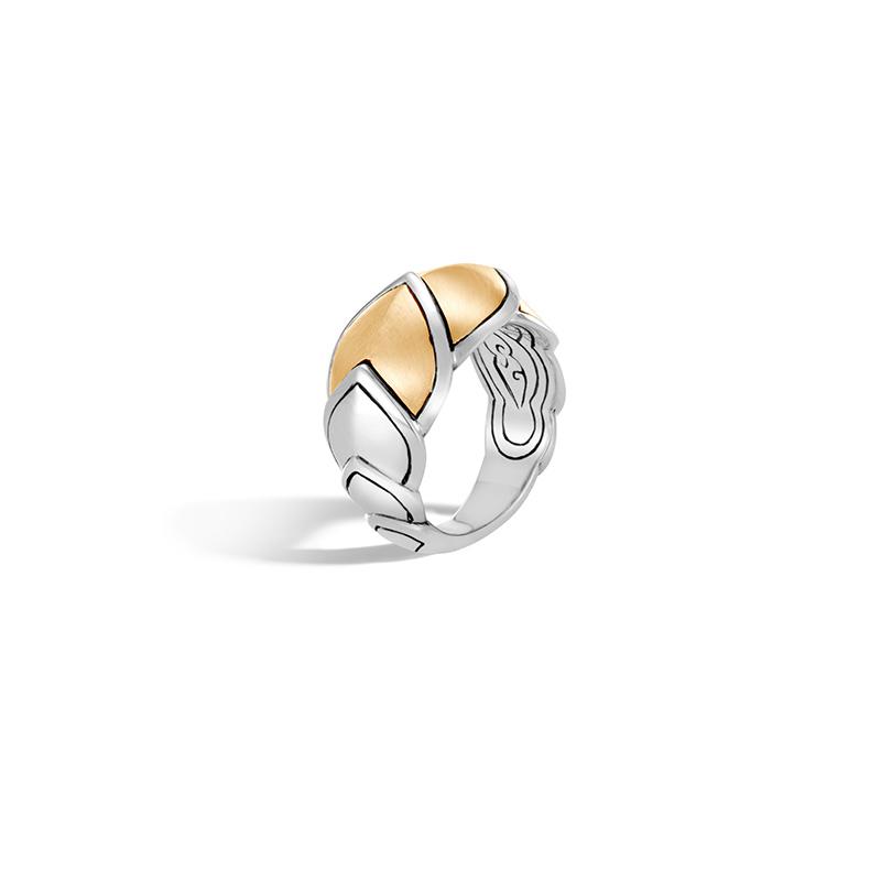 John Hardy Legends Naga 18 Karat Yellow Gold and Silver Medium Ring