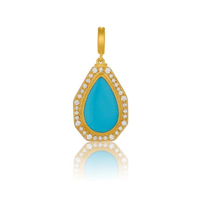Lika Behar 24 Karat yellow gold, diamond and turquoise