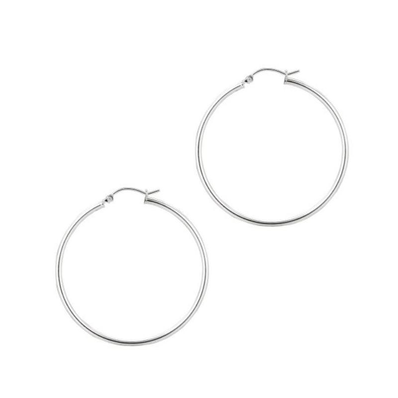 Royal Chain Sterling Silver 2mm Hoop Earrings