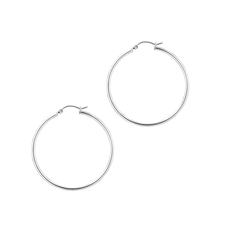 Sterling Silver 2MM hoop earrings