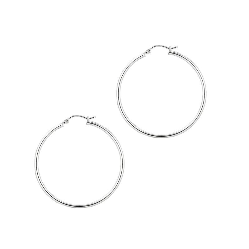 Sterling Silver 2MM hoop earrings