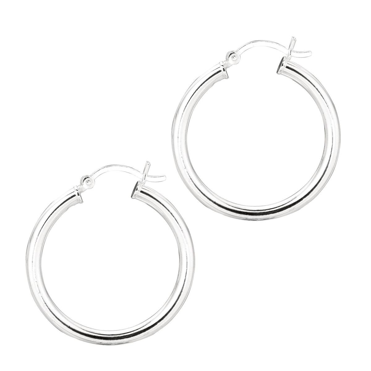 Royal Chain Sterling Silver 3mm Hoop Earrings