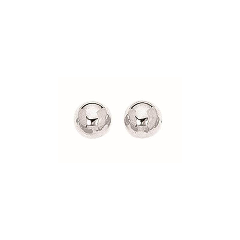 Royal Chain Sterling Silver 8mm Ball Stud Earrings