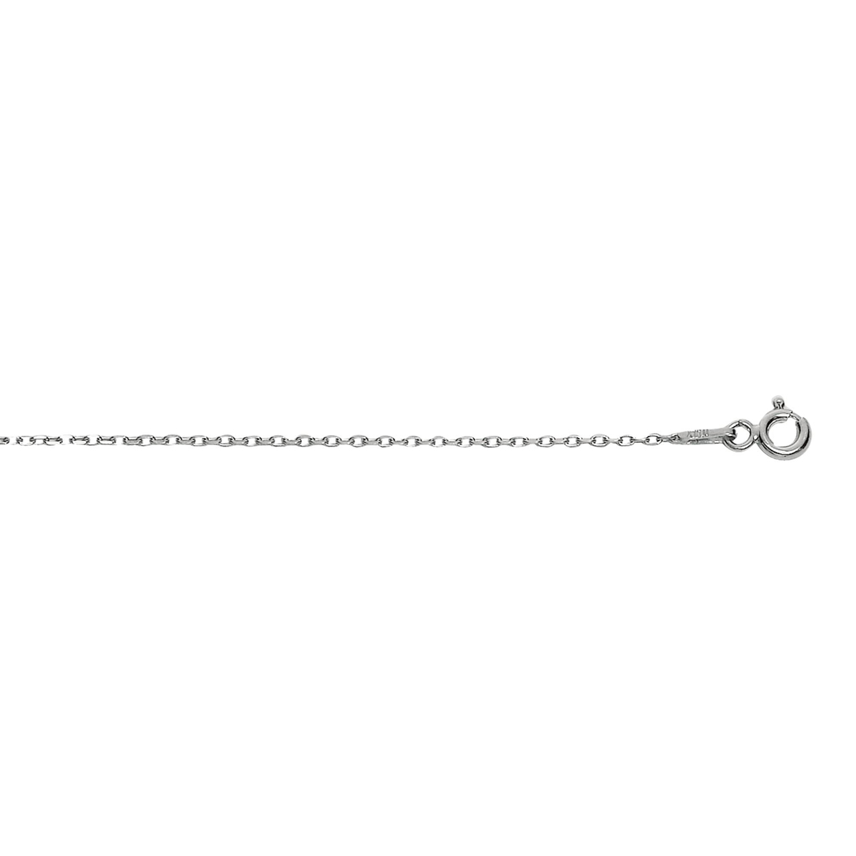 Royal Chain Sterling Silver .8mm Rhodium Cable Chain