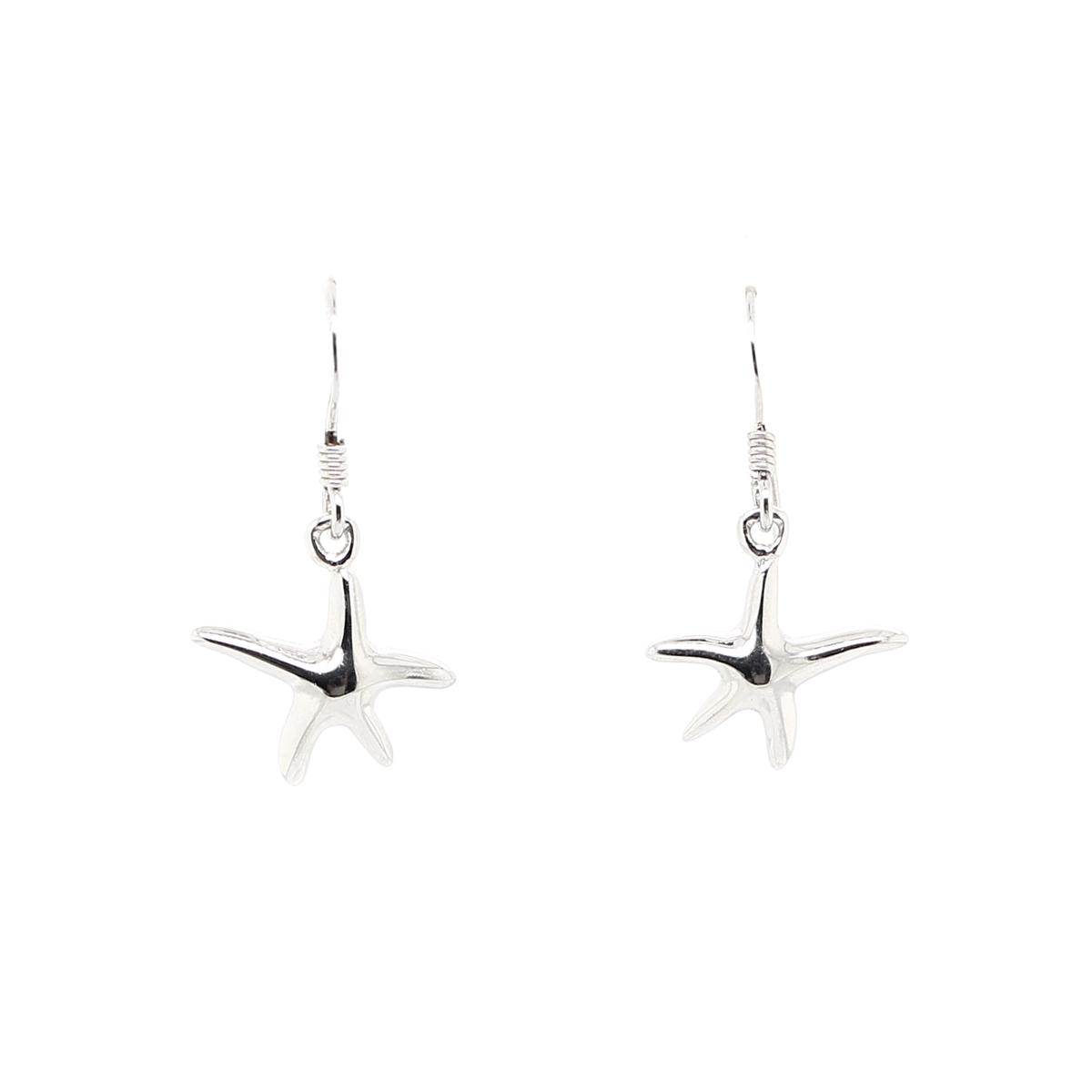 Royal Chain Sterling Silver Starfish Dangle Earrings