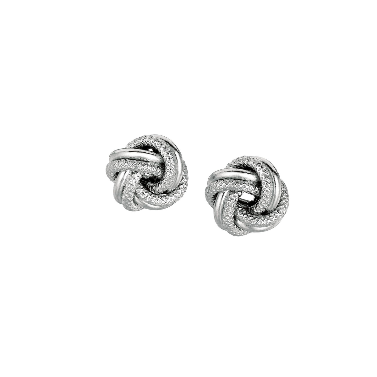 Royal Chain Sterling Silver Love Knot Earrings