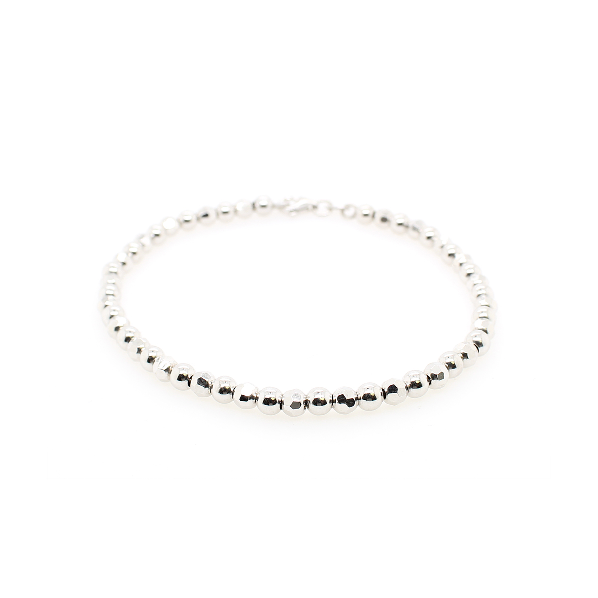 Royal Chain Sterling Silver Bead Bracelet