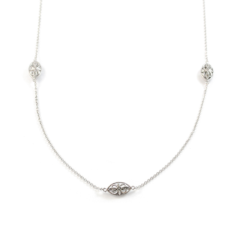 Sterling Silver Marquise Diamond 36