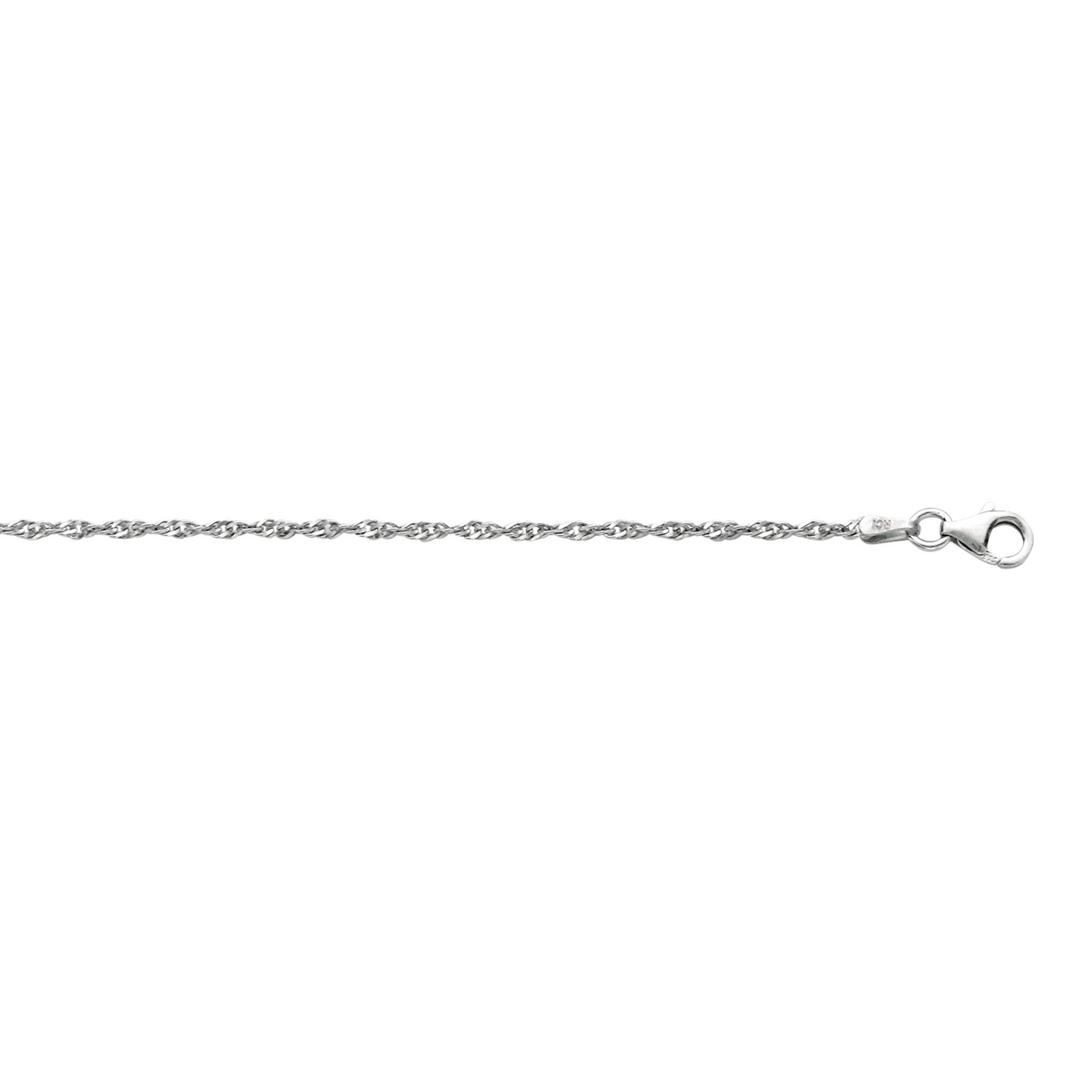 Royal Chain Sterling Silver 2.0mm Rhodium Singapore Chain