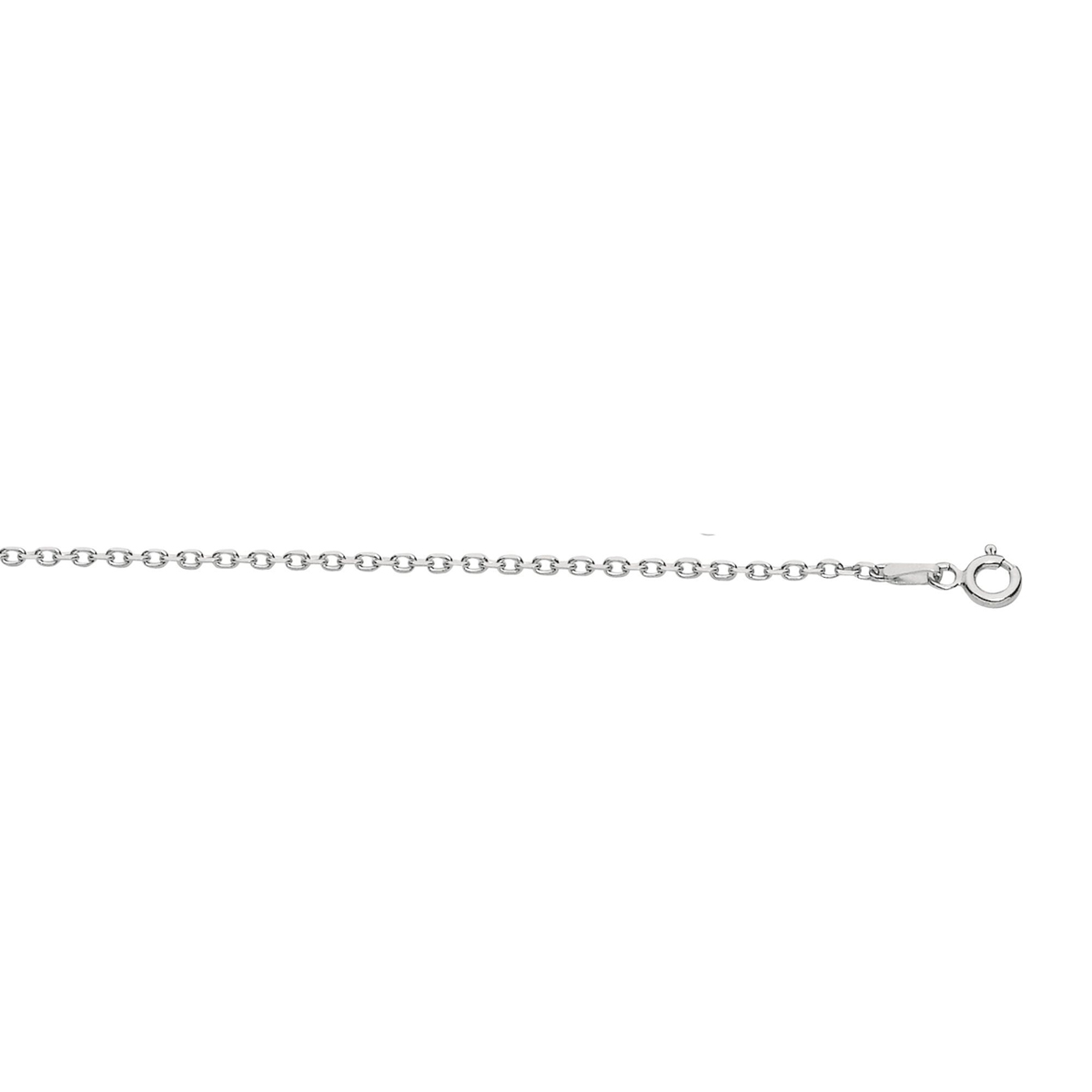 Royal Chain Sterling Silver 1.5mm Rhodium Cable Chain