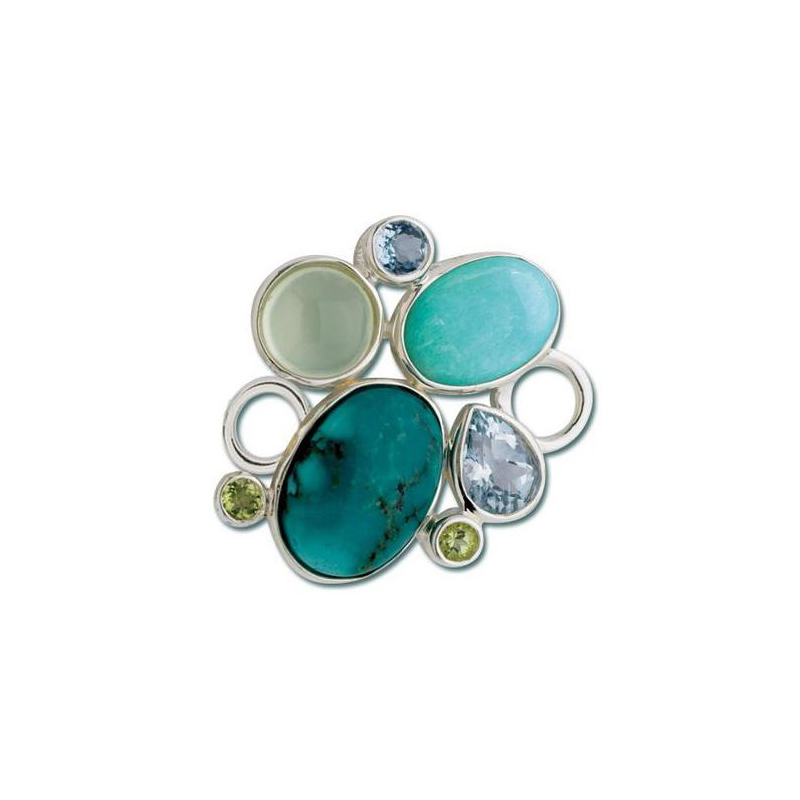 Sterling Silver Rock Garden Turquoise Clasp