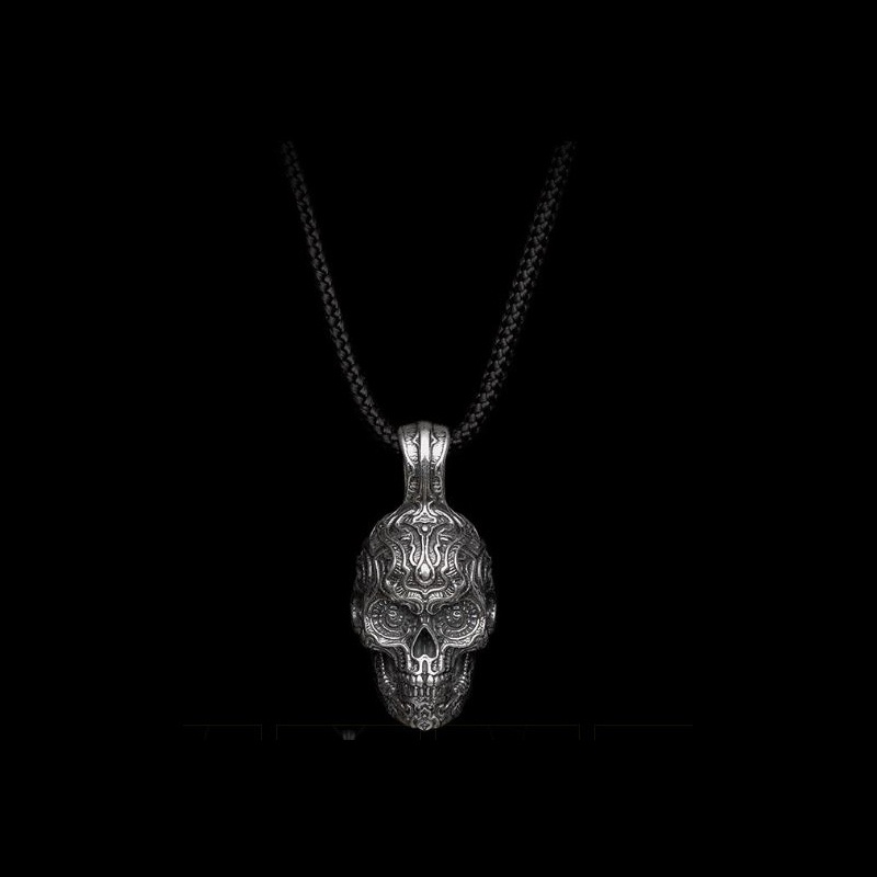 William Henry Sterling Silver Skull on Paracord