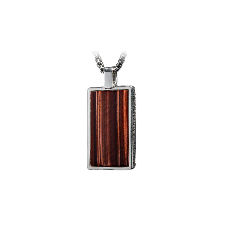 William Henry Red Tiger Pinnacle Pendant