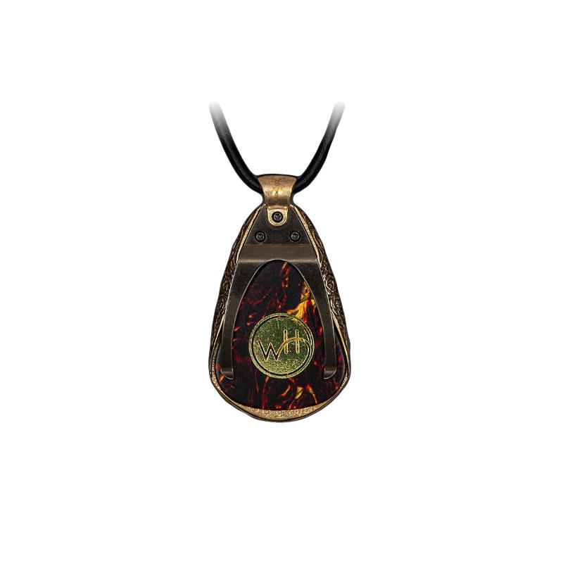 William Henry Satisfaction Bronze Guitar Pick Holder Necklace