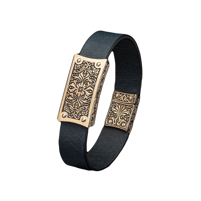William Henry Venice Black and Bronze Bracelet