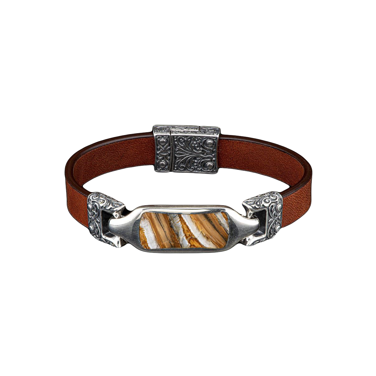 William Henry Florence Mammoth Tooth and Brown Bracelet