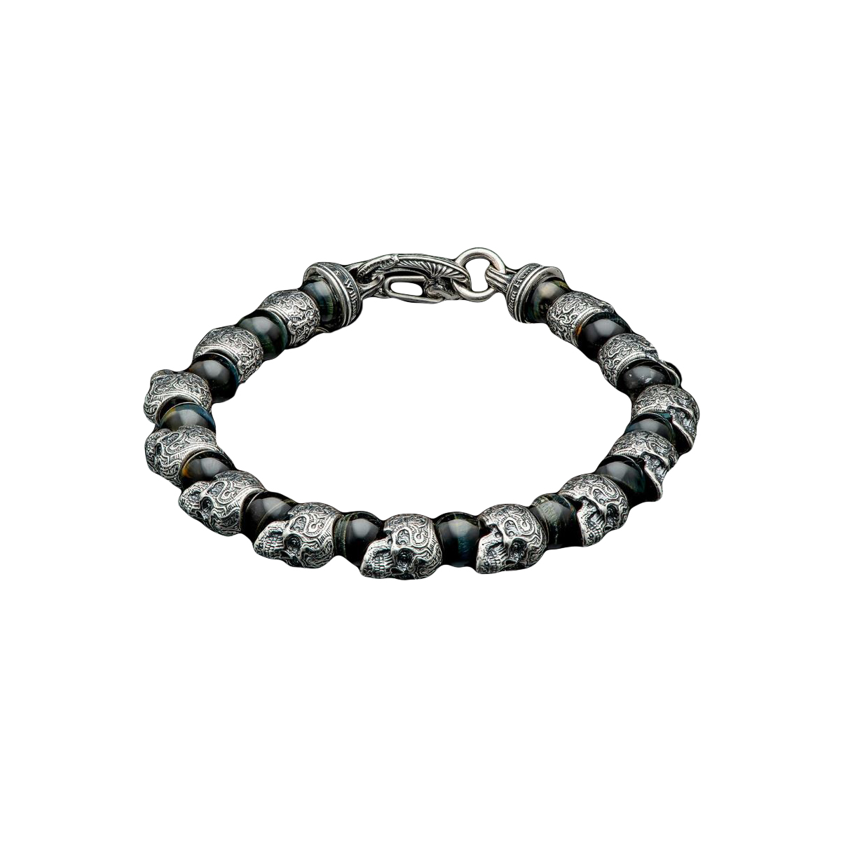 William Henry Hawkeye Skull Bracelet